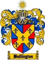 Primary image for Bullington Family Crest / Coat of Arms JPG or PDF Image Download