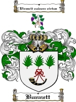 Primary image for Bunnett Family Crest / Coat of Arms JPG or PDF Image Download