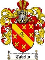 Primary image for Cabello Family Crest / Coat of Arms JPG or PDF Image Download