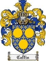 Primary image for Caffin Family Crest / Coat of Arms JPG or PDF Image Download