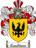 Primary image for Candiloro Family Crest / Coat of Arms JPG or PDF Image Download