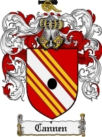 Primary image for Cannen Family Crest / Coat of Arms JPG or PDF Image Download