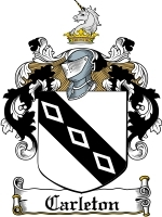Primary image for Carleton Family Crest / Coat of Arms JPG or PDF Image Download