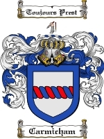 Primary image for Carmicham Family Crest / Coat of Arms JPG or PDF Image Download