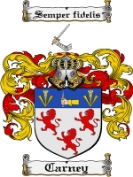 Primary image for Carney Family Crest / Coat of Arms JPG or PDF Image Download