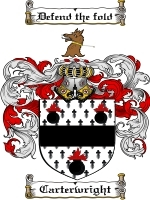 Primary image for Carterwright Family Crest / Coat of Arms JPG or PDF Image Download