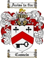 Primary image for Cassels Family Crest / Coat of Arms JPG or PDF Image Download