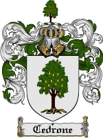 Primary image for Cedrone Family Crest / Coat of Arms JPG or PDF Image Download