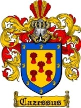 Cazessus Family Crest / Coat of Arms JPG or PDF Image Download - $6.99