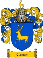 Primary image for Cervo Family Crest / Coat of Arms JPG or PDF Image Download