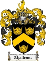 Primary image for Challenor Family Crest / Coat of Arms JPG or PDF Image Download