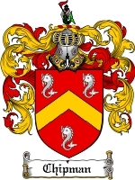 Chipman Family Crest / Coat of Arms JPG or PDF Image Download