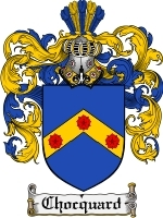 Primary image for Chocquard Family Crest / Coat of Arms JPG or PDF Image Download