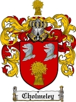 Primary image for Cholmeley Family Crest / Coat of Arms JPG or PDF Image Download