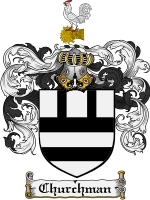 Primary image for Churchman Family Crest / Coat of Arms JPG or PDF Image Download