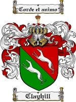 Primary image for Clayhill Family Crest / Coat of Arms JPG or PDF Image Download