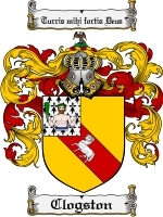 Primary image for Clogston Family Crest / Coat of Arms JPG or PDF Image Download