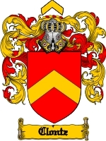 Clontz Family Crest / Coat of Arms JPG or PDF Image Download