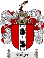 Coger Family Crest / Coat of Arms JPG or PDF Image Download