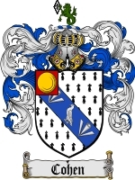 Primary image for Cohen Family Crest / Coat of Arms JPG or PDF Image Download