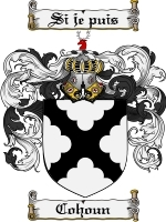Primary image for Cohoun Family Crest / Coat of Arms JPG or PDF Image Download