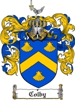 Primary image for Colby Family Crest / Coat of Arms JPG or PDF Image Download