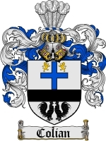 Primary image for Colian Family Crest / Coat of Arms JPG or PDF Image Download
