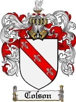 Primary image for Colson Family Crest / Coat of Arms JPG or PDF Image Download