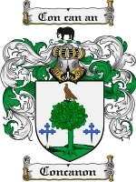 Primary image for Concanon Family Crest / Coat of Arms JPG or PDF Image Download