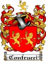 Contrucci Family Crest / Coat of Arms JPG or PDF Image Download