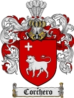 Primary image for Corchero Family Crest / Coat of Arms JPG or PDF Image Download