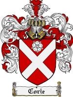 Primary image for Corie Family Crest / Coat of Arms JPG or PDF Image Download