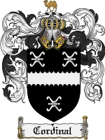 Cordinal Family Crest / Coat of Arms JPG or PDF Image Download