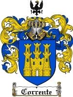 Primary image for Corrente Family Crest / Coat of Arms JPG or PDF Image Download