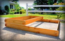 Garden Bed Raised Planter Cedar Tiered Tier Flower Box Vegetable Outdoor Large - $124.99