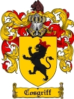 Primary image for Cosgriff Family Crest / Coat of Arms JPG or PDF Image Download