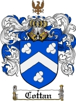 Primary image for Cottan Family Crest / Coat of Arms JPG or PDF Image Download