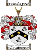 Primary image for Coulbyrne Family Crest / Coat of Arms JPG or PDF Image Download