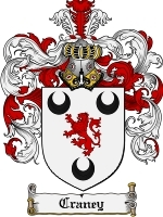 Primary image for Craney Family Crest / Coat of Arms JPG or PDF Image Download