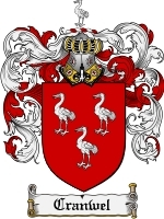 Cranwel Family Crest / Coat of Arms JPG or PDF Image Download