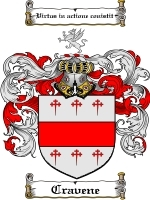 Cravene Family Crest / Coat of Arms JPG or PDF Image Download