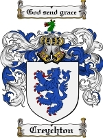 Primary image for Creychton Family Crest / Coat of Arms JPG or PDF Image Download