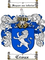 Primary image for Croux Family Crest / Coat of Arms JPG or PDF Image Download