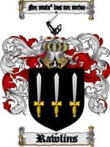 Rawlins Family Crest / Coat of Arms JPG or PDF Image Download - $6.99