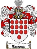 Cuevas Family Crest / Coat of Arms JPG or PDF Image Download