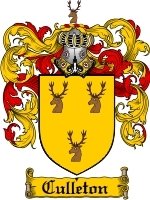 Culleton Family Crest / Coat of Arms JPG or PDF Image Download