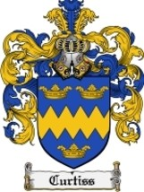 Curtiss Family Crest / Coat of Arms JPG or PDF Image Download - $6.99