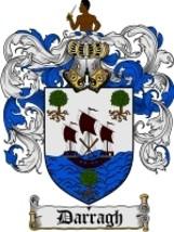 Darragh Family Crest / Coat of Arms JPG or PDF Image Download - $6.99