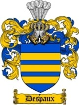 Despaux Family Crest / Coat of Arms JPG or PDF Image Download - $6.99