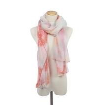Orange Poppy or Dandelion Unique new orange and cream tones chiffon scarf